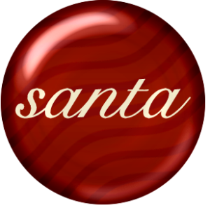 Santa button or brad