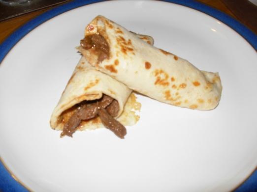Chilli beef pancake