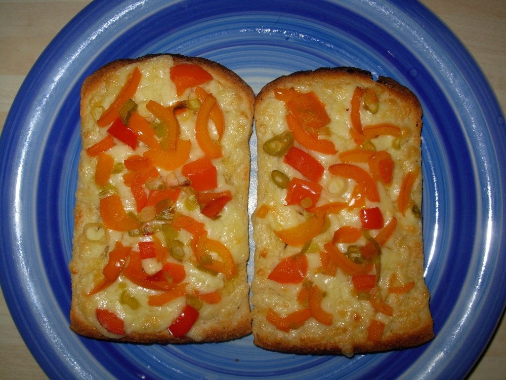 peppery cheese on toast
