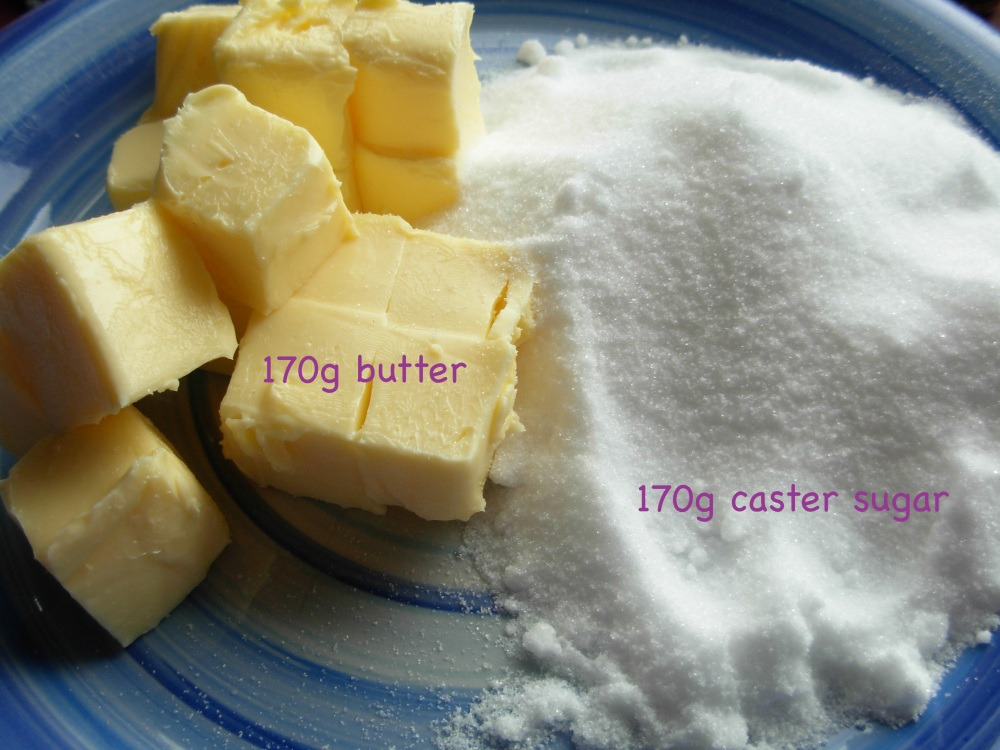1 - sugar and butter