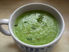 courgette and mint soup
