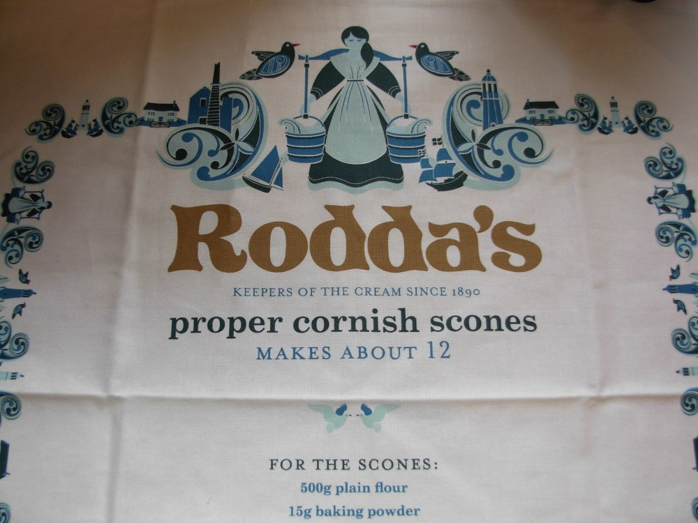 Rodda's tea towel