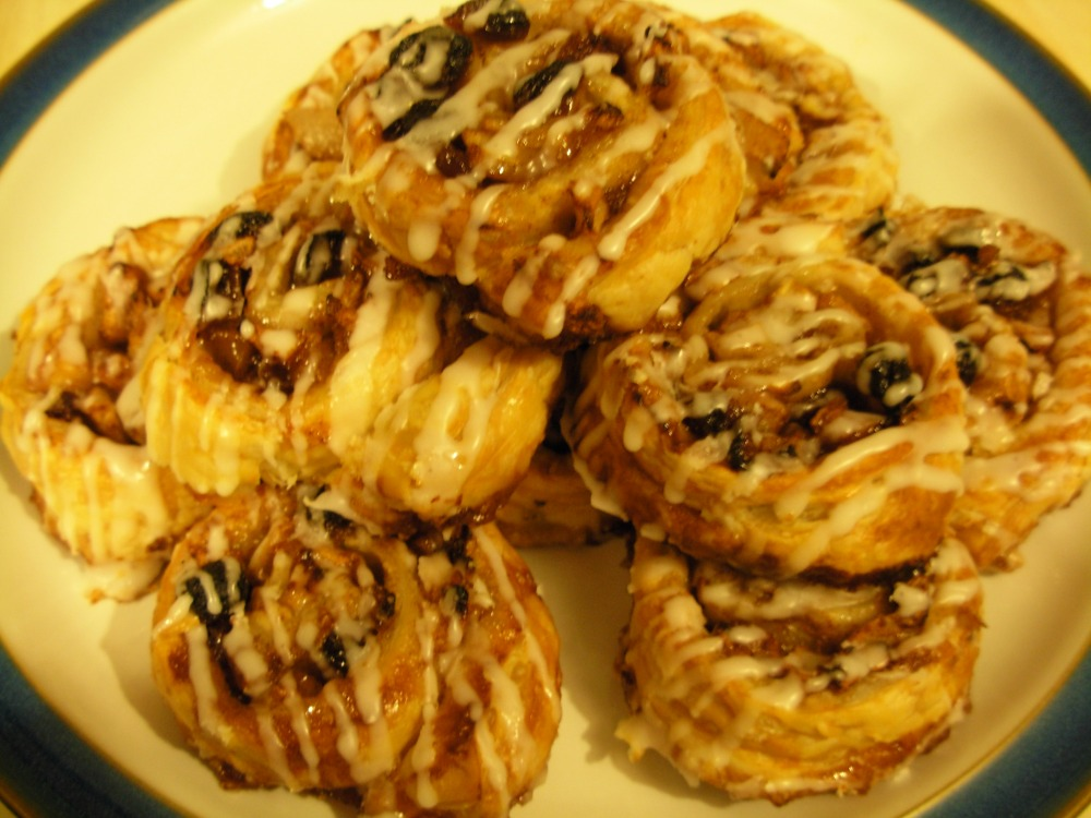 Stack of Danish pastries