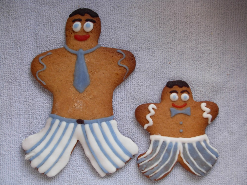 Gingerbread father and son
