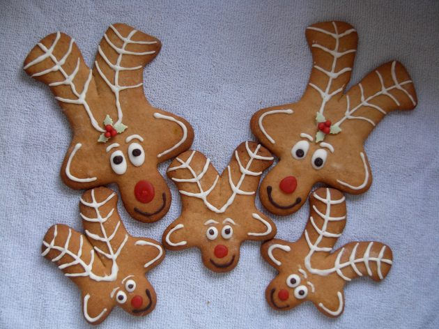 gingerbread reindeer family