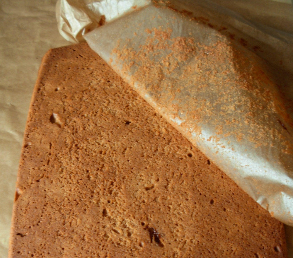 Peel off gingerbread backing