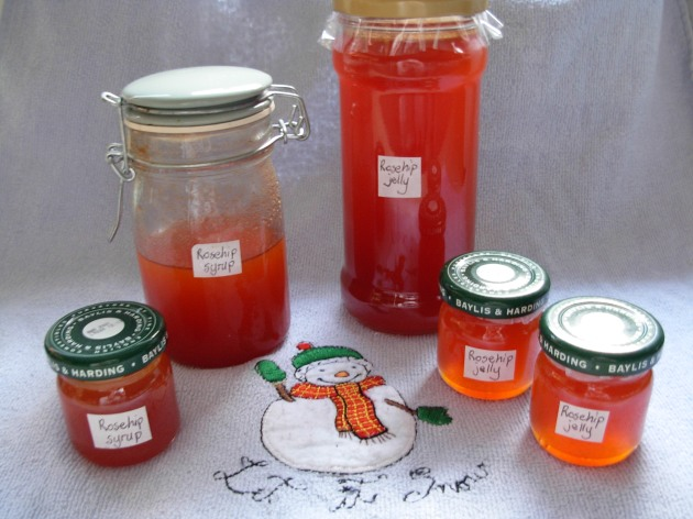 Rosehip jelly and syrup