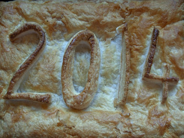 2014 new year pie