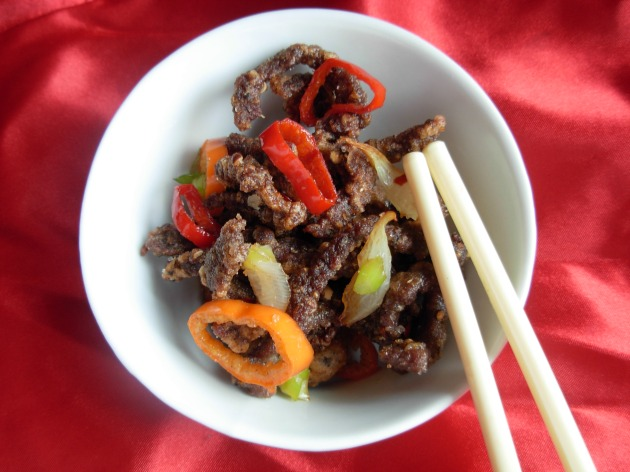 Salted chilli crispy beef