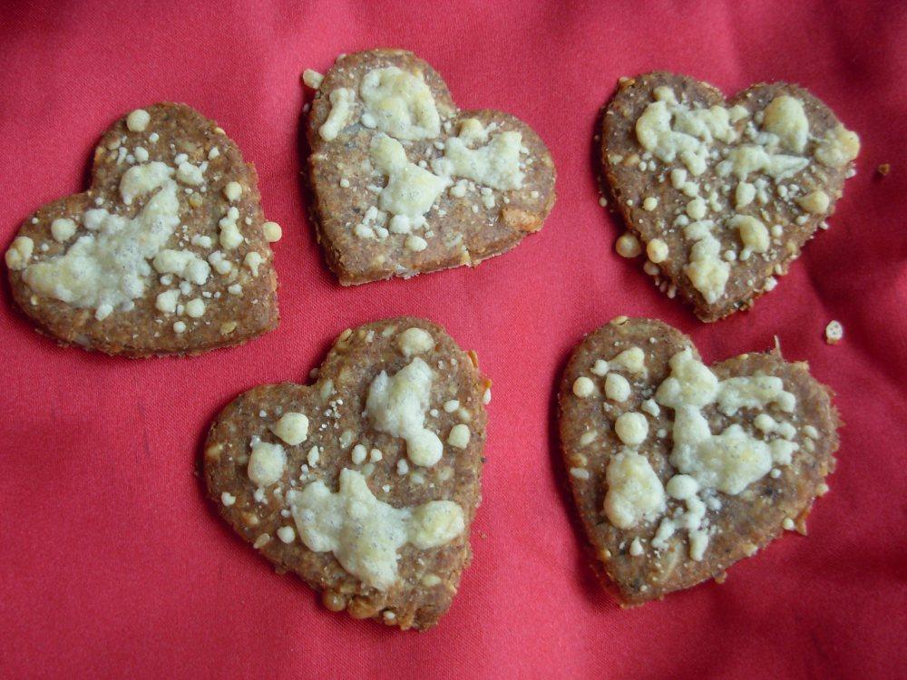Baked Rye hearts